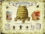"10229 - 6"" x 8"" Beekeeping Bees Honey Vintage Metal Steel Sign Plaque"